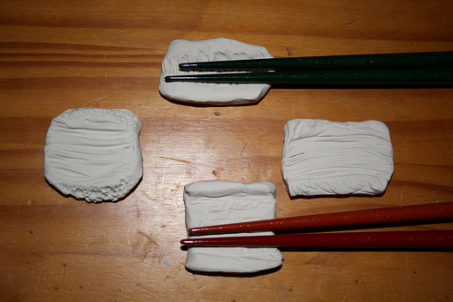 Sculpey Chopstick Rests