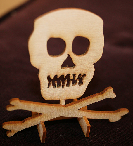 Laser cut Jolly Roger