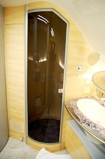 A380 shower room