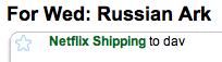 Netflix russian ark