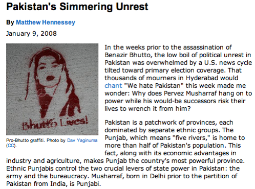 Pakistan's simmering unrest